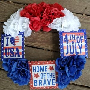 Other - Patriotic wreath summer 4th of july labor day memo